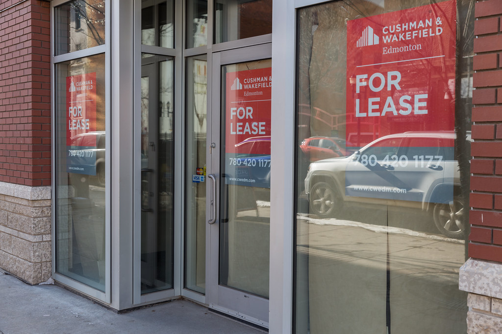 For Lease signs are a familiar sight along 104th Street.