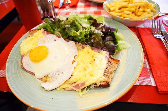 Croque Madame, Le Tournesol, Montparnasse, Paris, France