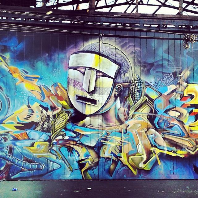 Mural street art instagraffiti graffiti santiago qui for Mural z papiezem franciszkiem