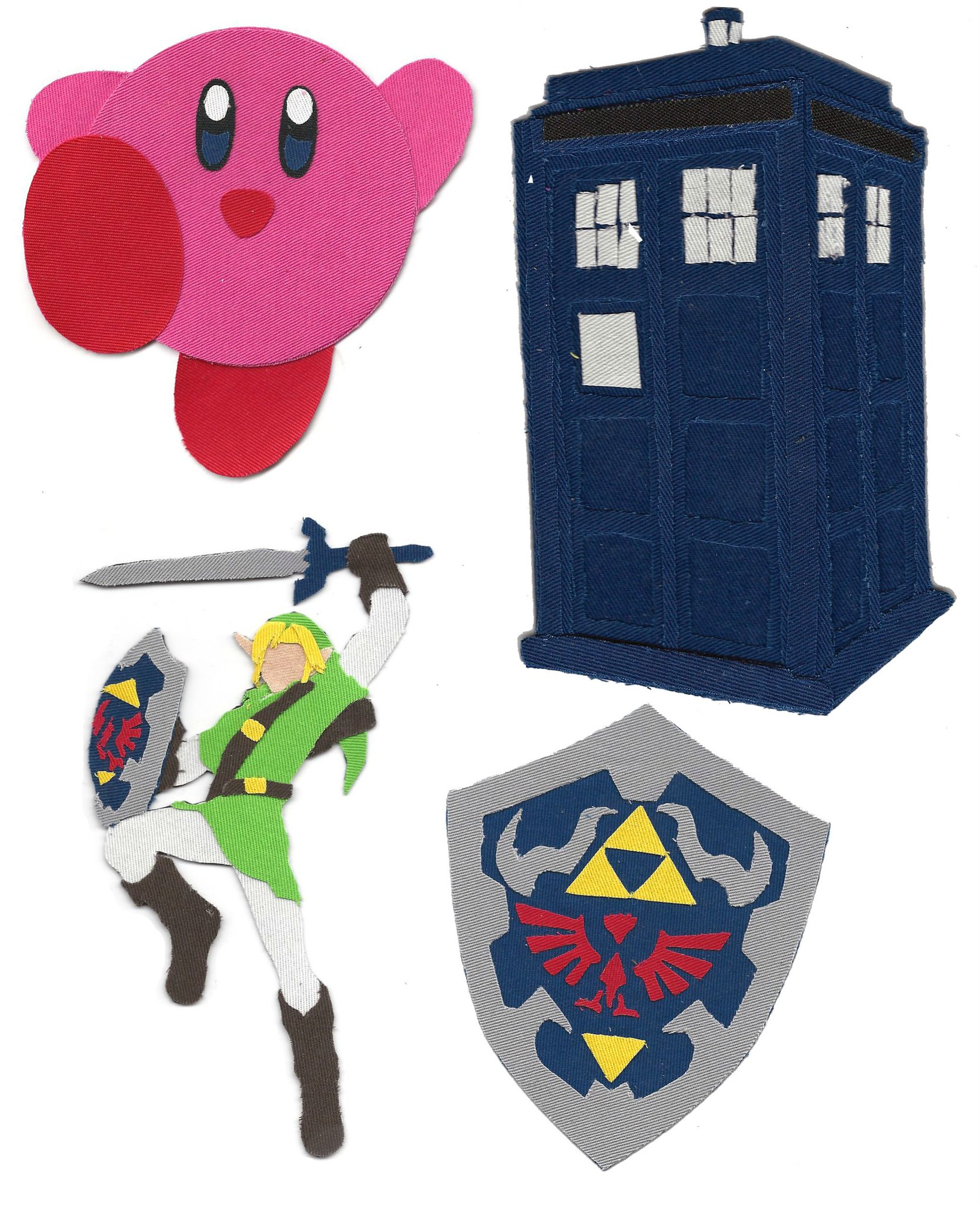 Fabric Pop Culture by Alysha Crist - Kirby, Legend of Zelda, Doctor Who TARDIS