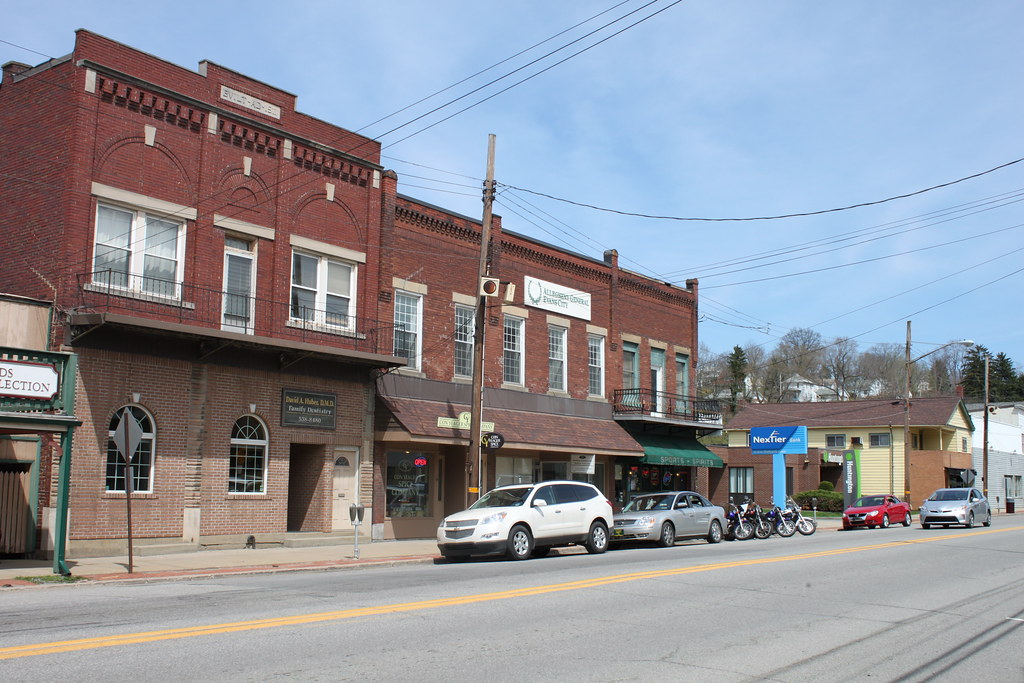 Downtown Evans City Pa Evans City Appears To Have A