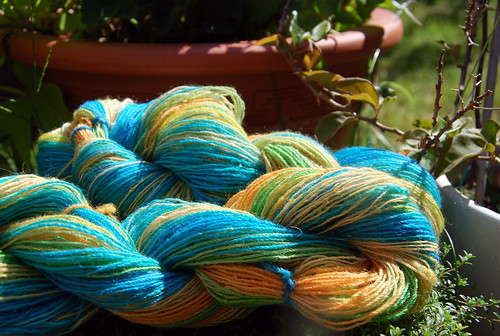 Handspun spindle BFL yarn