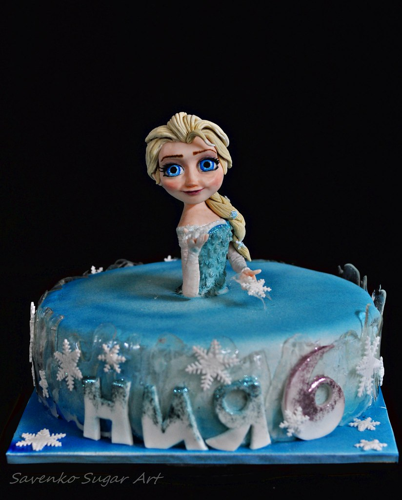 Show Me A Birthday Cake With Elsa Anna On It