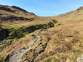 Ascending towards Birkhouse Moor