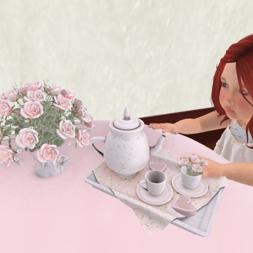 Having a tea party 2