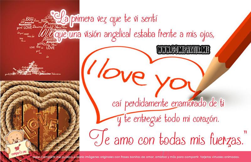 Frases De Amor Imagen Con Dibujo De Una Corazon Y Frases Flickr