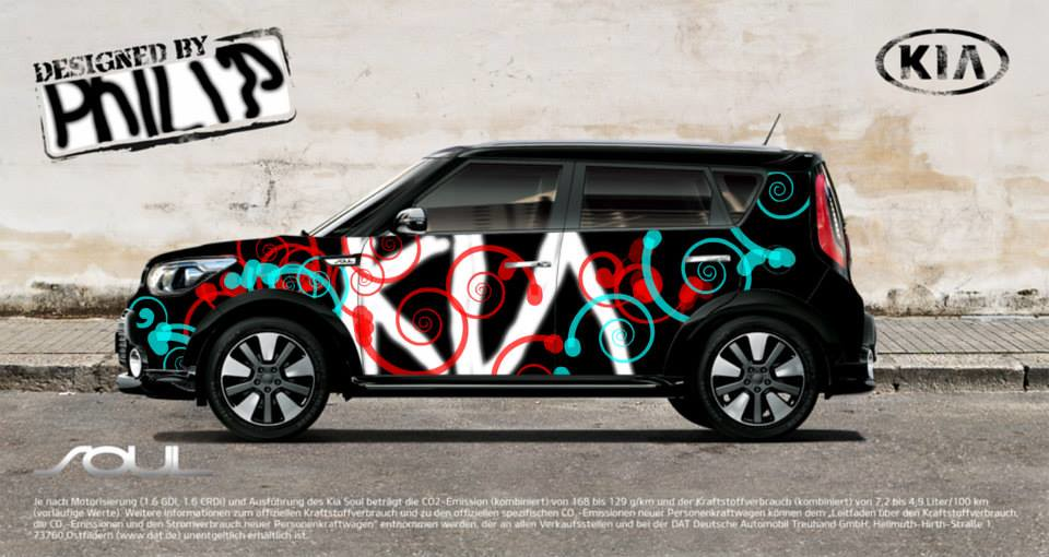 All New Kia Soul Graffiti Wall Graffiti Wall Kia Paint