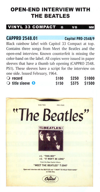 3086 Open End Interview With The Beatles Vinyl 33 Compact