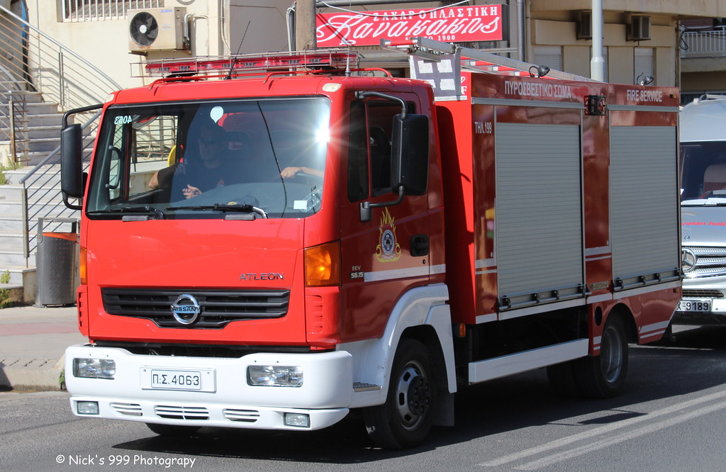 hellenic fire service 4063 nissan atleon light p flickr. Black Bedroom Furniture Sets. Home Design Ideas