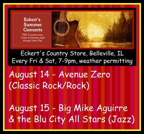 Eckert's Summer Concerts 8-14, 8-15-15