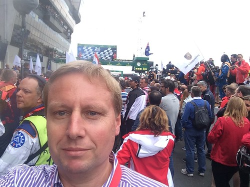 Selfie with the crowd on the pitlane