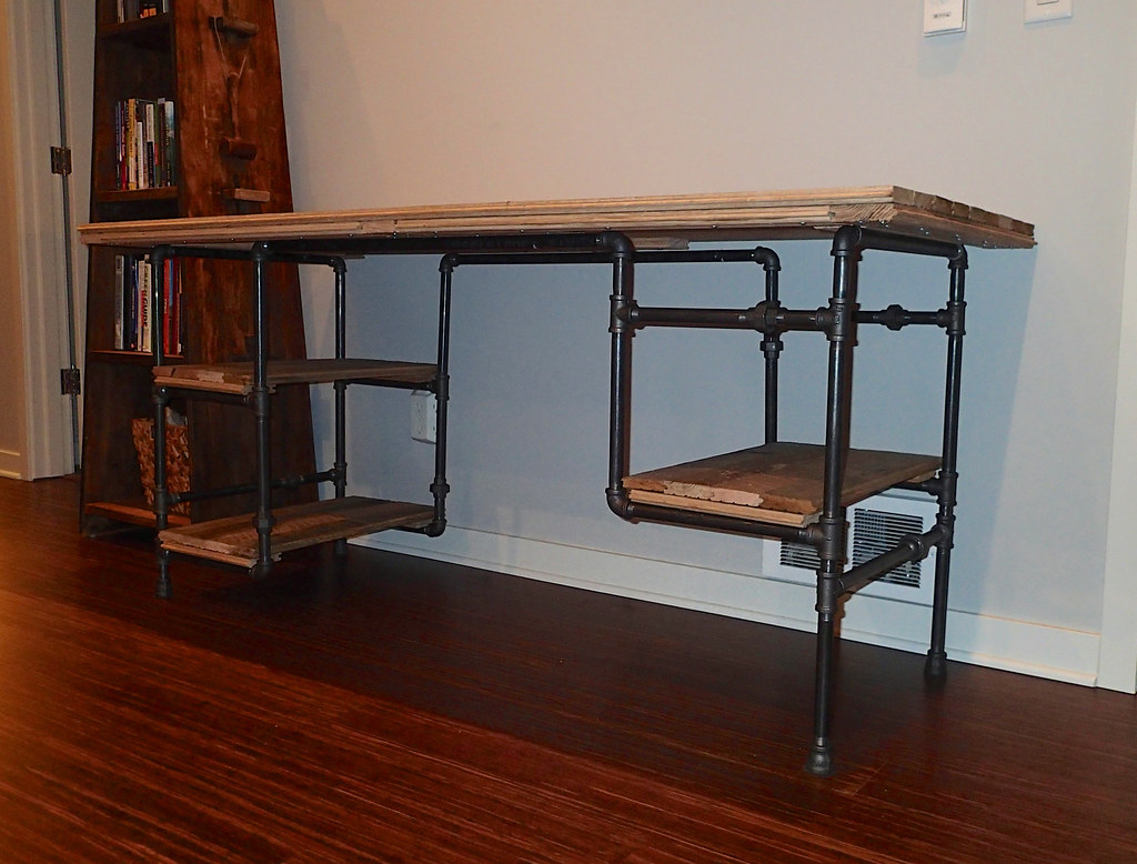 Desk 07 Frame Made From 189 Quot Black Iron Pipe I Built