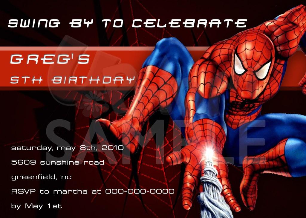 Free Printable Spiderman Birthday Invitation Cards | Flickr