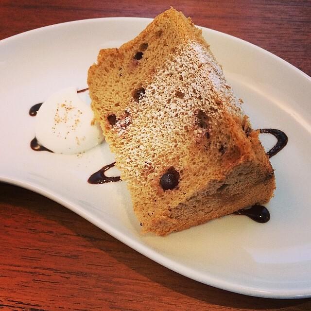 Chocolate Chip Chiffon Cake