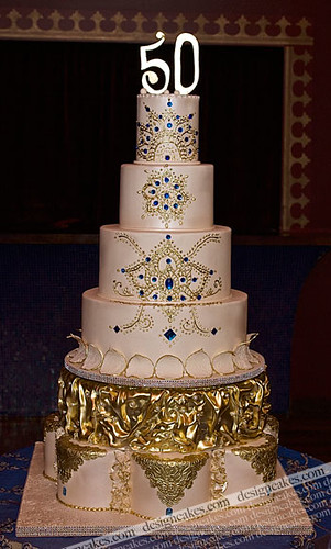 Moroccan style 50th birthday cake. Flickr - Photo Sharing!