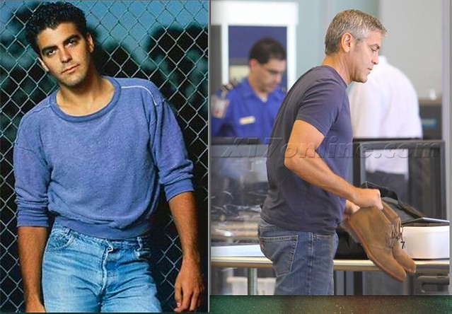 George Clooney in jeans. Now and then.