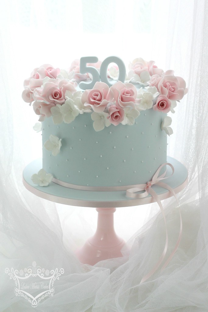 50th Birthday Cake 50th Birthday Cake Order Rose And