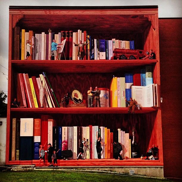 biblioth que en trompe l 39 oeil bibliotheque streetart s flickr. Black Bedroom Furniture Sets. Home Design Ideas