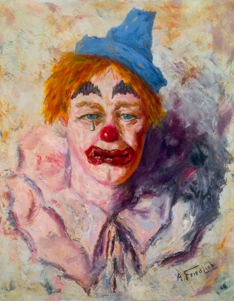 Sad Clown Picture Famous Painting