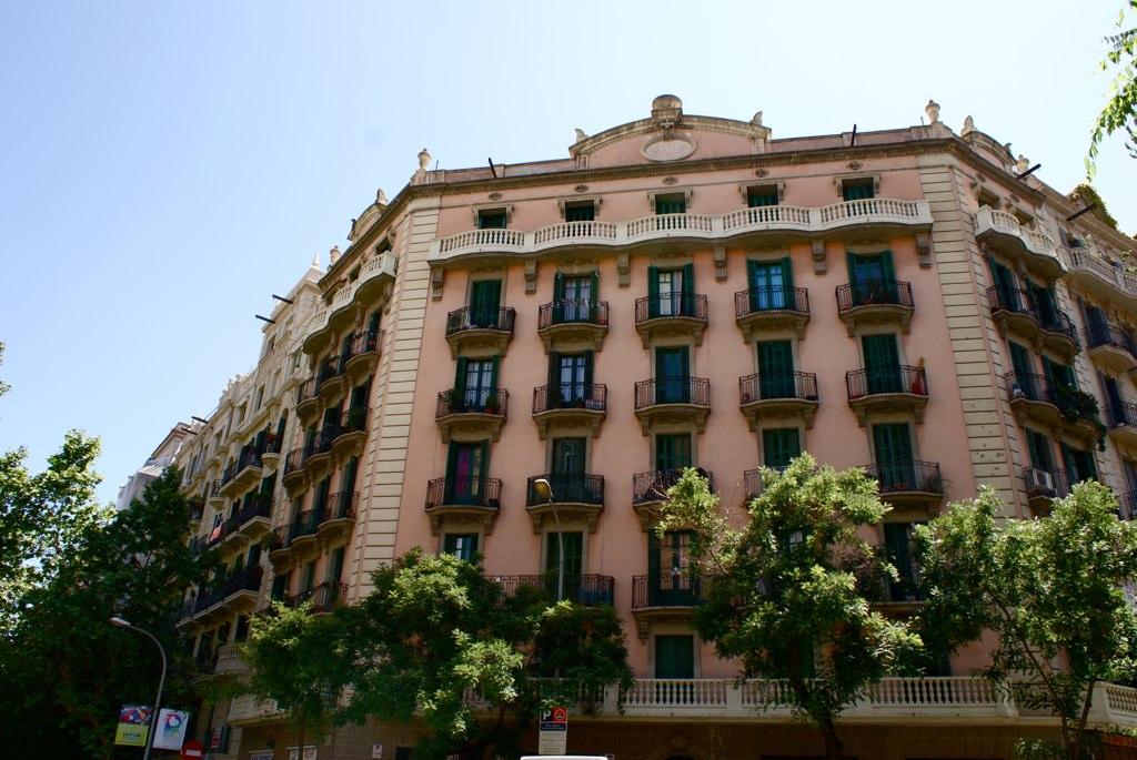 Immeuble d'habitation dans le quartier d'Eixample à Barcelone.