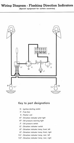 Bus 11/1957 elektrisch schema knipperlichten