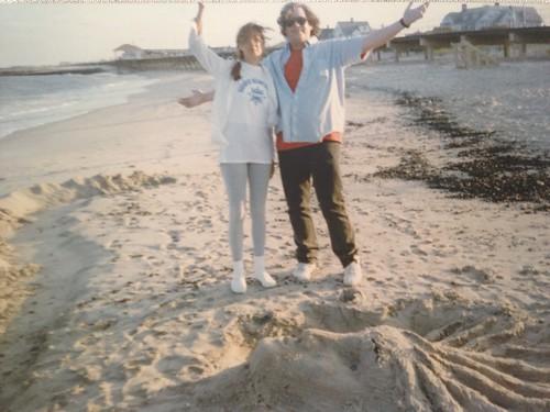 Ann & John and sand sculpture