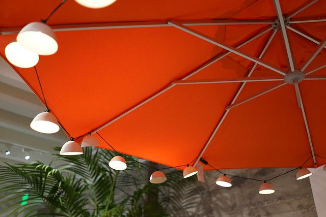 Large Red Patio Umbrella with Large String Lights Flickr - Photo Sharing!