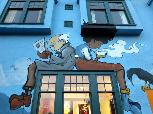 Coffee shop mural explore ruth and dave 39 s photos on for Coffee shop mural