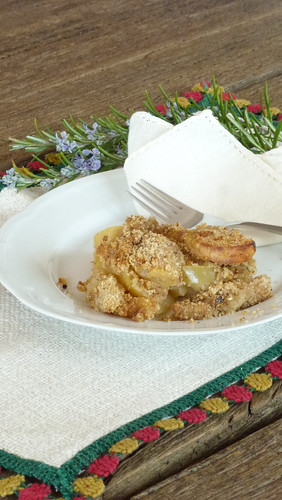 Rosemary marinated apple crumble - Crumble di mele marinate al rosmarino