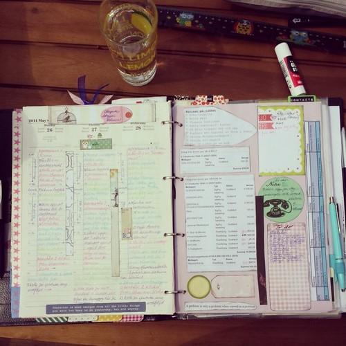week22 My Filofax Finsbury agenda calendar diary