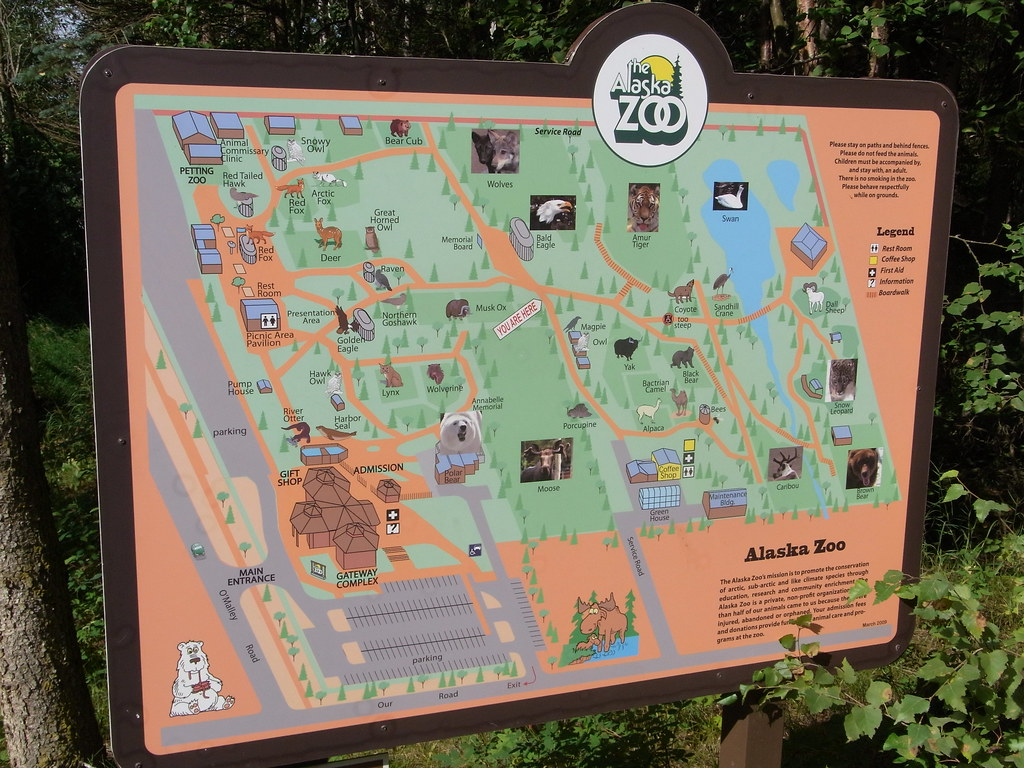 Anchorage Alaska Alaska Zoo Map Only Native And Coldclima