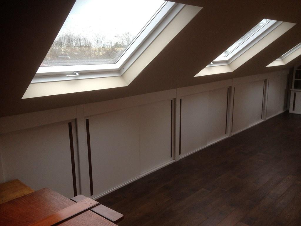 Loft Room Sliding Doors Eaves Storage Behind The Doors M