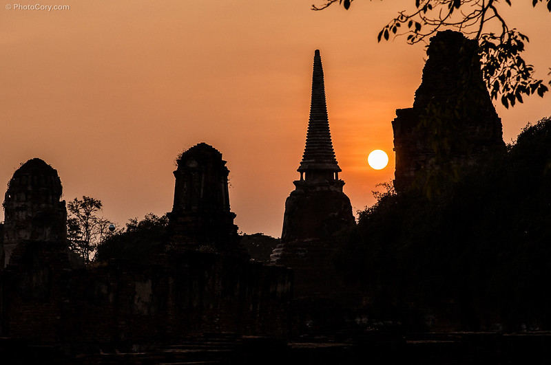 Ayutthaya at sunset