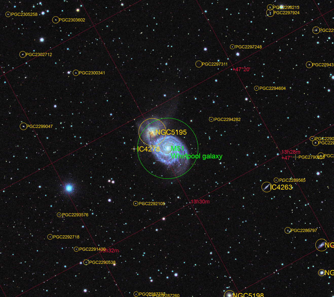 M51 Annotated