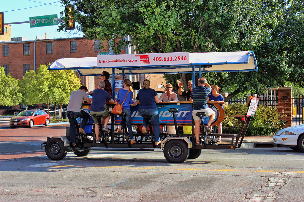 Bricktown Bike Bar The Bricktown Bike Bar Pedal Powered Flickr