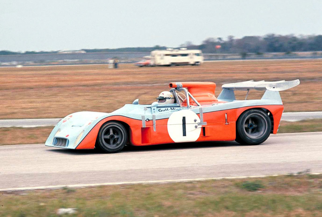 1973 Daytona 24, Howden Ganley drives the Gulf Mirage M6 F ...