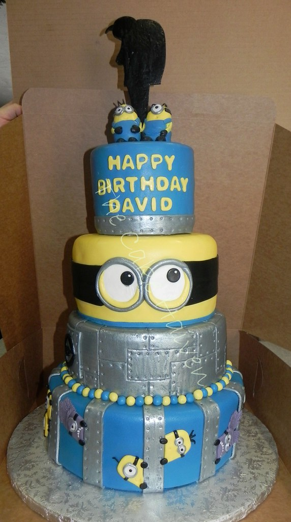Despicable Me Cake Top Tier - Yellow Chocolate Chip Cake ...