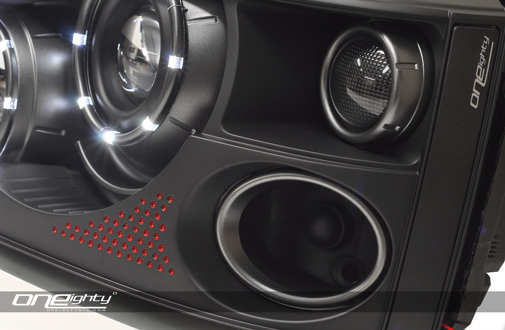 2008 Range Rover Sport Headlights | Matte Black Housing ...