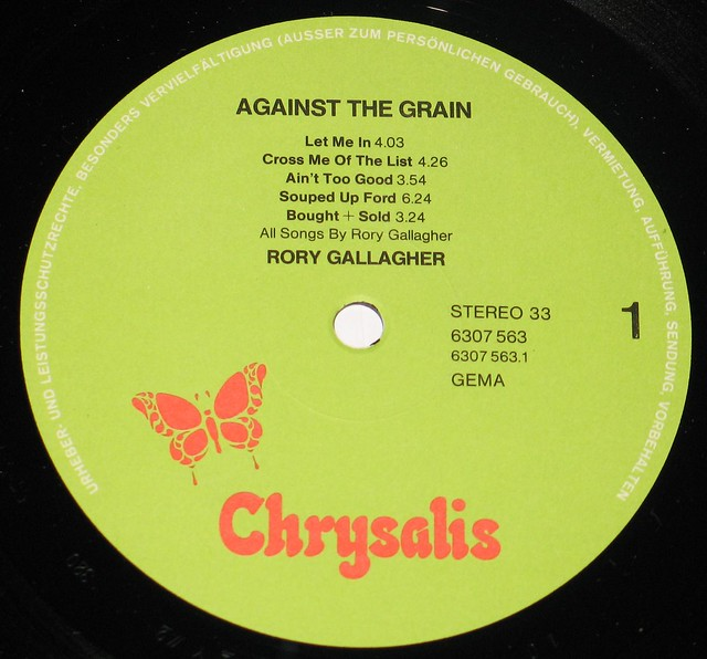 "Rory Gallagher Against the Grain 12"" Vinyl LP"