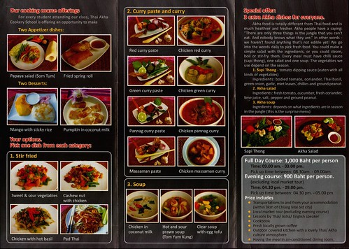 Brochure Thai Akha Cooking School Chiang Mai 2