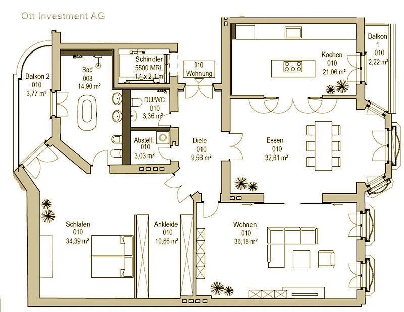 grundriss einer ca 170 qm wohnung im maison ouest berlin flickr. Black Bedroom Furniture Sets. Home Design Ideas