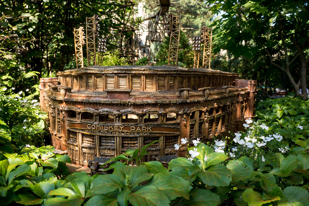 Old Comiskey Park At Chicago Botanic Gardens Model