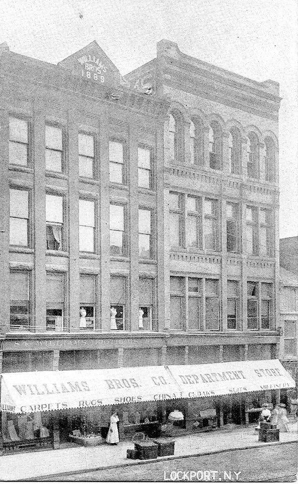 """Williams Brothers Department Store in 1900 