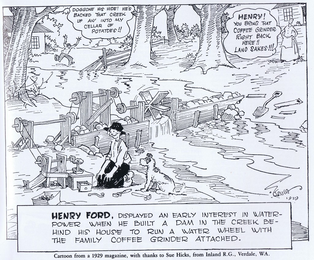Henry Ford In Waterpower Cartoon V8 X Vol 20 No 6 1983