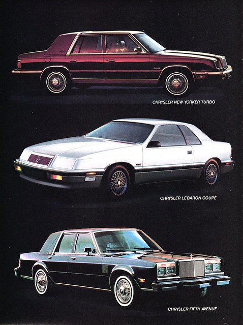 1988 chrysler new yorker lebaron amp fifth avenue flickr