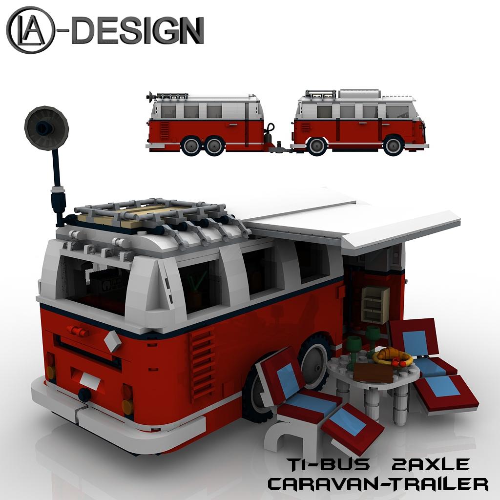 lego 10220 t1 bus wohnwagen camper trailer 12 the custom. Black Bedroom Furniture Sets. Home Design Ideas