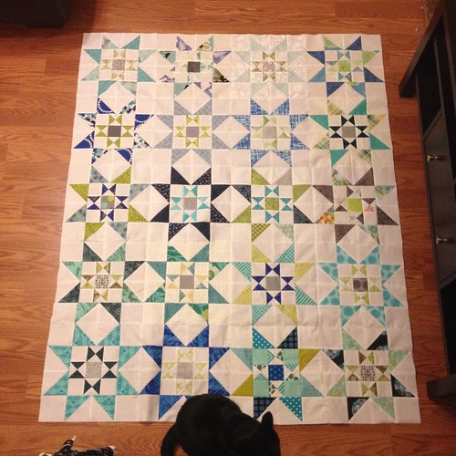 January do.Good stitches quilt is pieced!