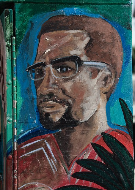 Mural malcom x mural malcom x 24th street mission for Malcolm x mural