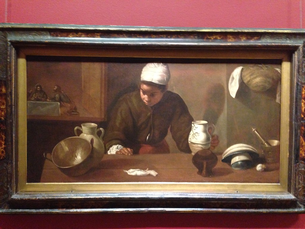 diego velázquez: kitchen maid with the supper at emmaus (1
