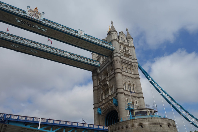 Going under the Tower Bridge